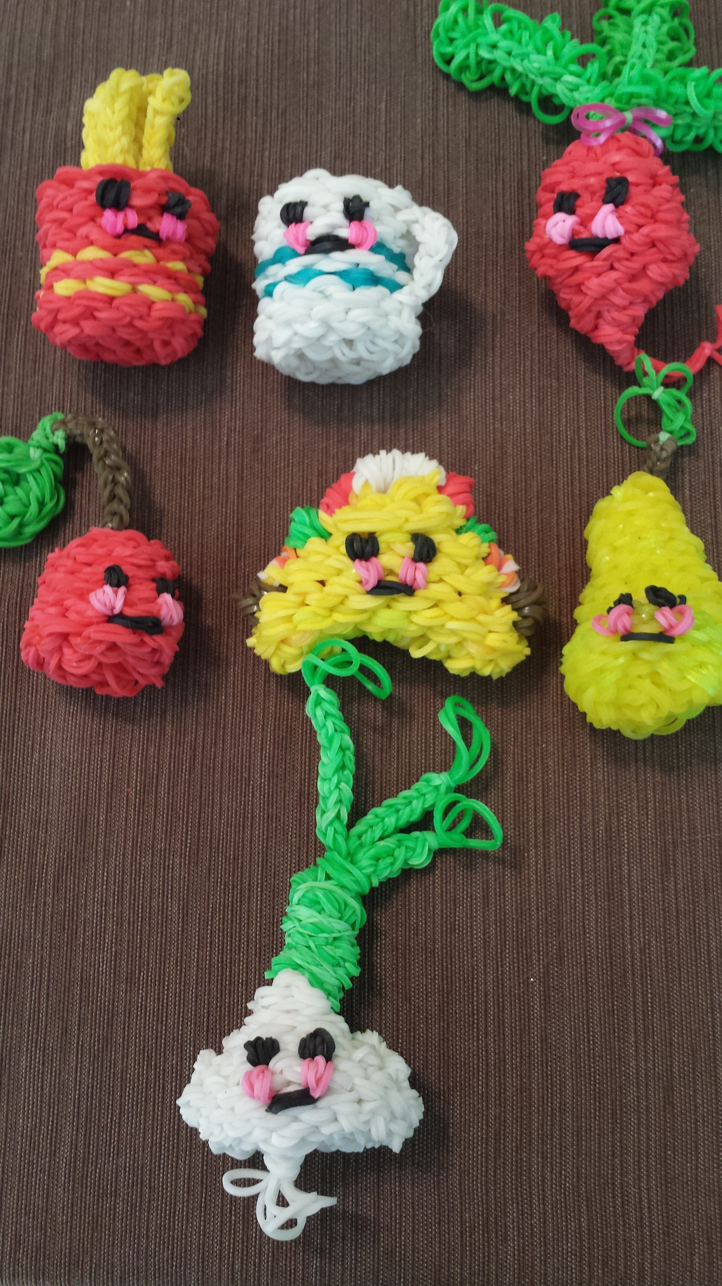 The New Members... Rainbow Loom Charms